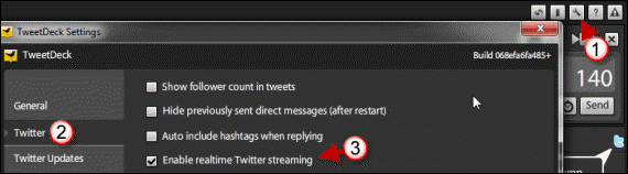 Cara Nonaktifkan Realtime Streaming di TweetDeck