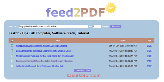 kaskot rss feed