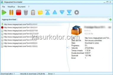 Megaupload Downloader, Download Manager untuk Megaupload dan Megavideo