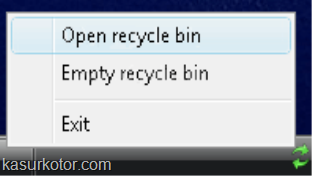 recycle bin di sys tray