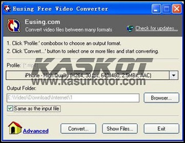 Download Eusing Free Video Converter