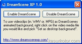 DreamScene Untuk Windows Xp, Membuat Video Jadi Wallpaper