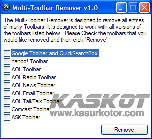 Uninstall Browser Toolbar dengan Multi-Toolbar Remover