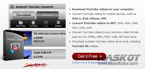 Download Aneesoft YouTube Converter + Lisensi GRATIS