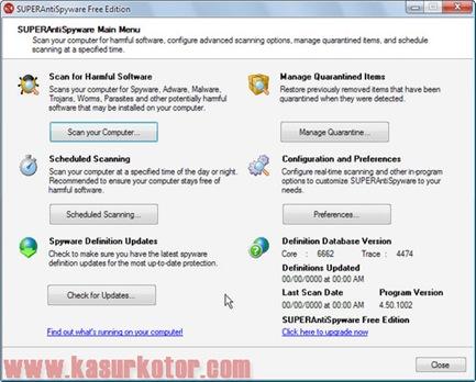 AntiSpyware Portable – Scan + Menghapus Spyware dan Malware dari Komputer Tanpa Install Software