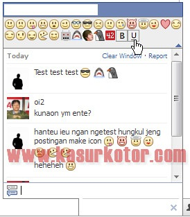 Menampilkan Emoticon di Facebook Chat