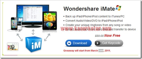 Download Wondershare iMate GRATIS [Limited Period]