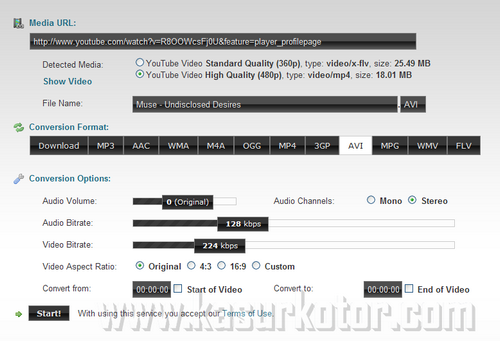 Download Bagian Video YouTube dalam Format Berbeda