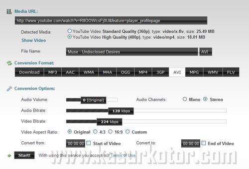 Download Bagian Video YouTube dalam Format Berbeda