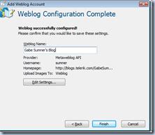 konfigurasi blog selesai