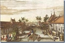 Old Djakarta (Batavia) around Tjiliwung River