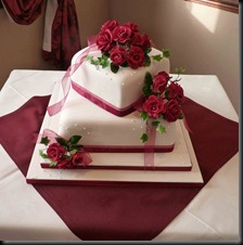 2-tier-Rose-and-Polka-Dots-cAKE