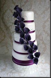 5-tier-Purple-Lillies-Wedding-Cake