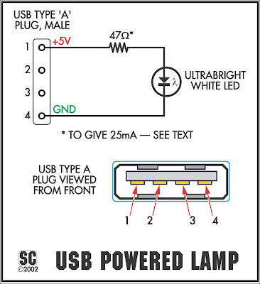 the itsy bitsy usb lamp diy electronics projects, circuits