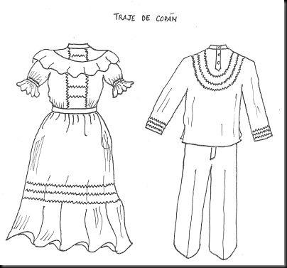 Traje tipico de la region andina para colorear - Imagui