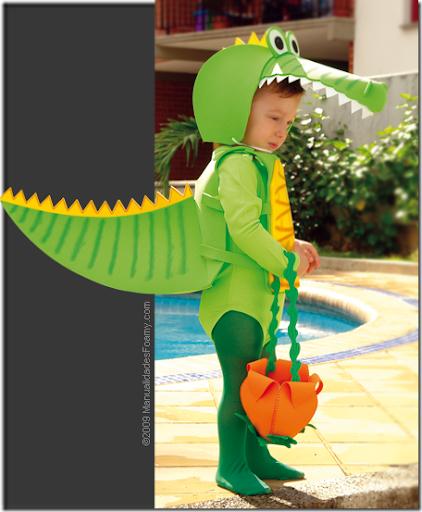 Como hacer un disfraz de cocodrilo - Imagui
