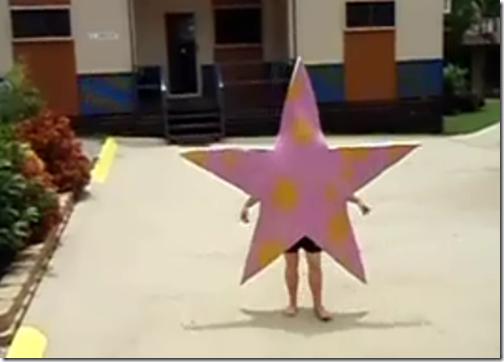 disfraz de estrella de mar foami