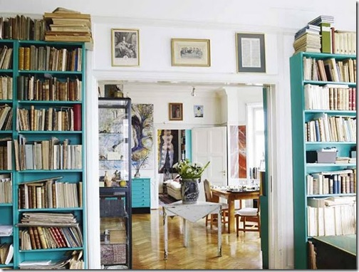 bookcases turquoise blackwhiteyellow
