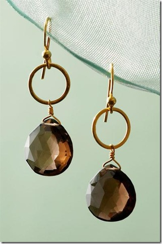 stella smoky quartz earrings