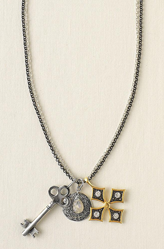 fall liv multi charm necklace
