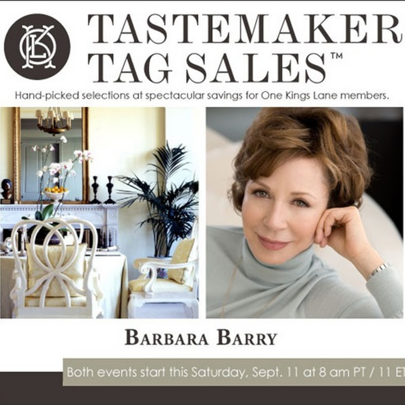Tastemaker Tag Sale: Barbara Barry