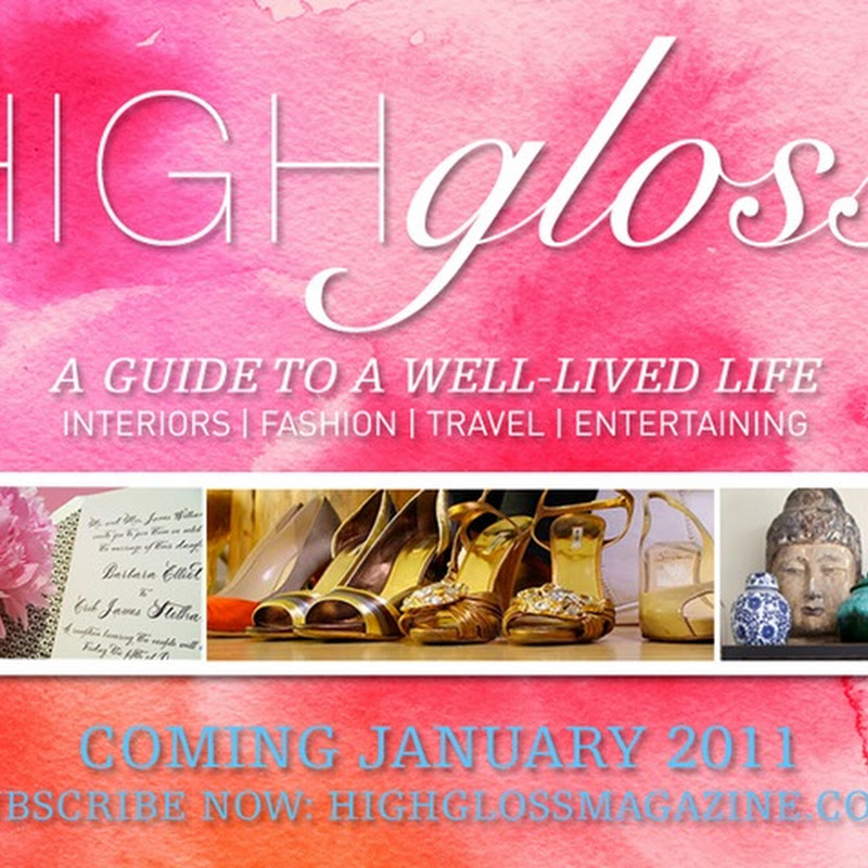 A Very Exciting Announcement: High Gloss Magazine!
