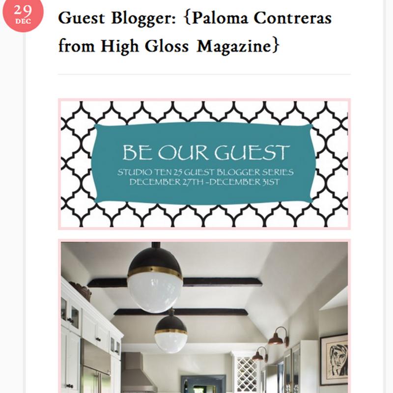 Guest Blogging on Studio Ten 25