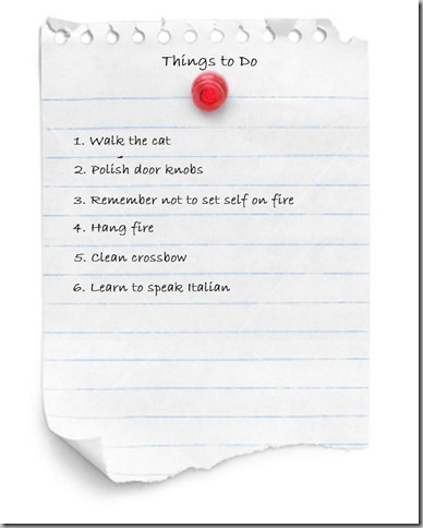 To do list revised