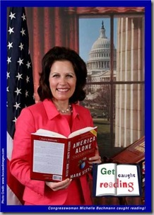 Michelle Bachmann caught reading!