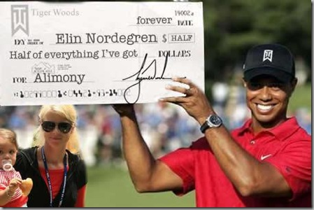 Tiger's big check