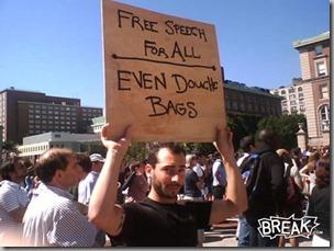 Free speech douchebags