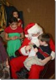 tallen on Santa's lap