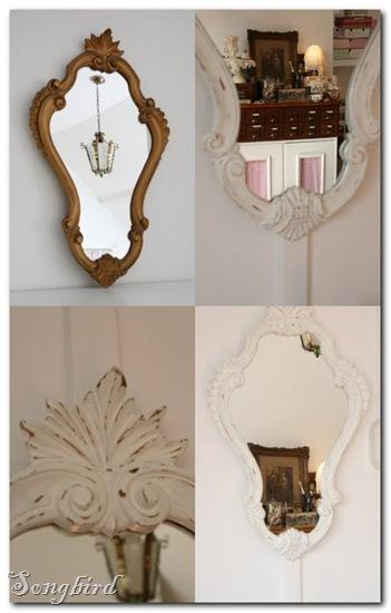 White mirror collage