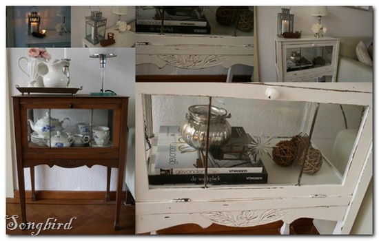 Tea cabinet collage