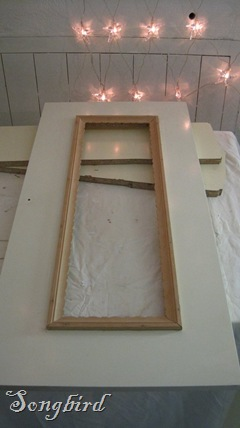 Cupboard makeover window frame