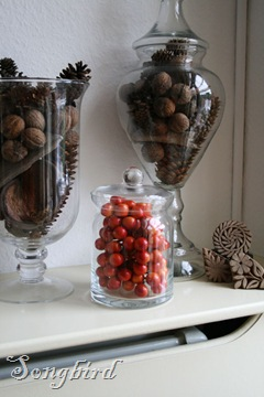 Fall glass urns