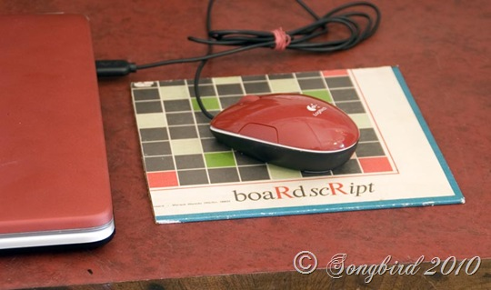 Board Script Mouse pad
