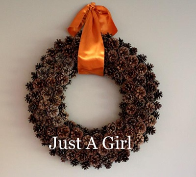 Just a Girl Fall wreath