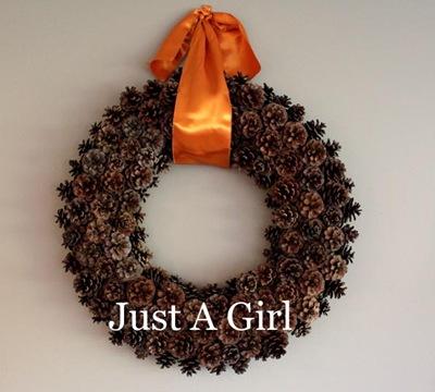 Just a Girl Fall wreath