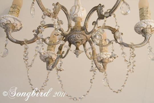 My chandelier makeover i got it done songbird chandelier makeover 1 aloadofball Image collections