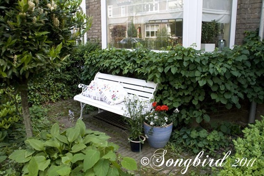 White Garden Bench 6