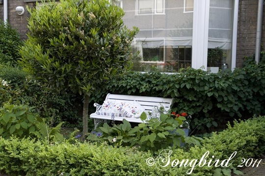White Garden Bench 1
