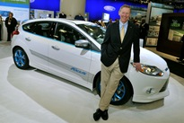 Alan Mulally Visits Ford Display at This Year's NADA Convention