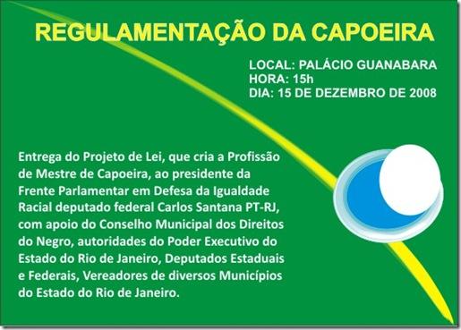 Convite capoeira