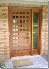 Modern 50 Lite Cherry Wood Door