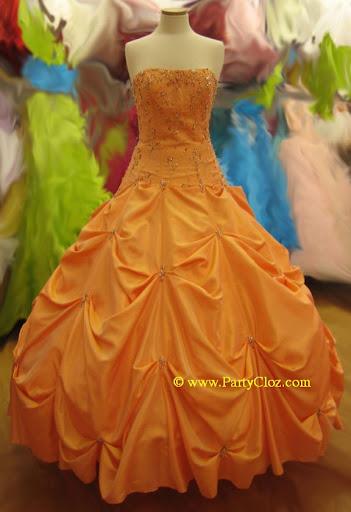 Orange prom dresses 6
