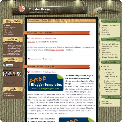 theater-room-blogger-template