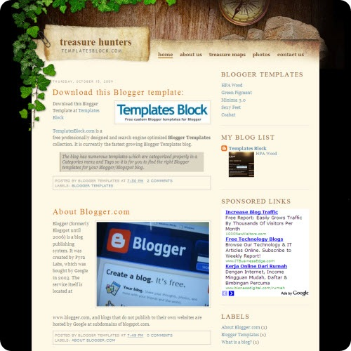 treasure-hunters-blogger-template