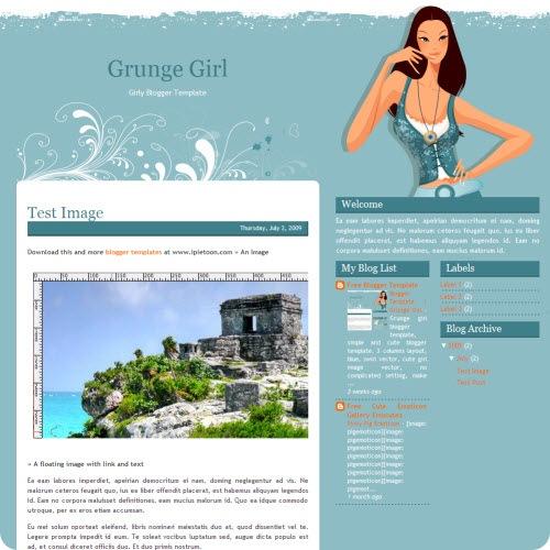 grunge-girl-blogger-template