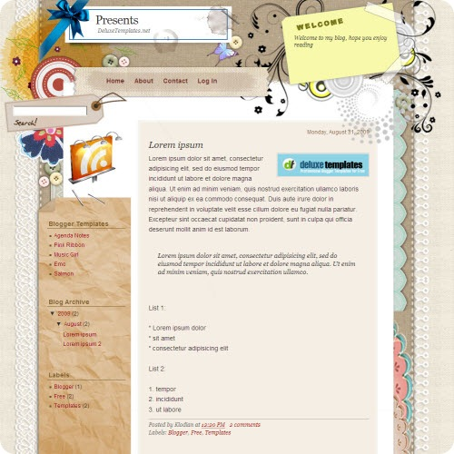 presents-blogger-template